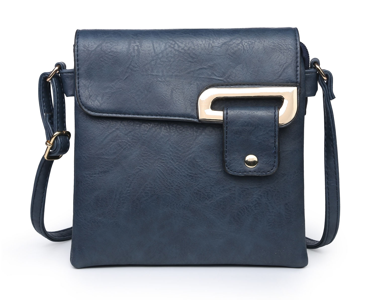 SMALL NAVY BLUE MULTI POCKET CROSSBODY MESSENGER BAG