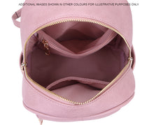 A-SHU SMALL LIGHT PINK PLAIN MULTI COMPARTMENT CROSS BODY BACKPACK - A-SHU.CO.UK