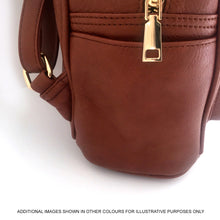A-SHU SMALL BURGUNDY PLAIN MULTI COMPARTMENT CROSS BODY BACKPACK - A-SHU.CO.UK