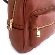 A-SHU SMALL TAN MULTI COMPARTMENT CROSS BODY BACKPACK - A-SHU.CO.UK