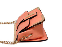 SMALL BLUSH PINK LEATHER EFFECT CROSS-BODY CHAIN SHOULDER BAG