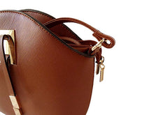 SMALL BROWN CROSS-BODY HANDBAG WITH LONG SHOULDER STRAP