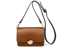 A-SHU SMALL BROWN LEATHER EFFECT DOUBLE SIDED CROSS-BODY SHOULDER BAG - A-SHU.CO.UK