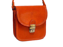 A-SHU ORDER BY REQUEST - SMALL BURNT TAN GENUINE LEATHER SATCHEL SHOULDER BAG WITH LONG STRAP - A-SHU.CO.UK