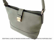 A-SHU SMALL PASTEL BLUE COMPACT SINGLE STRAP HANDBAG WITH LONG CROSS BODY STRAP - A-SHU.CO.UK