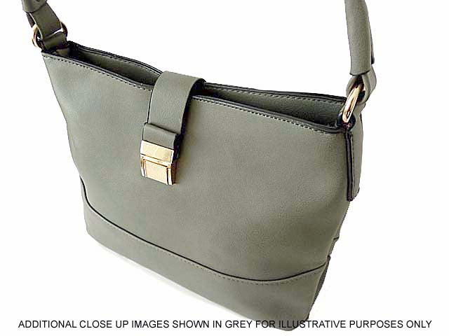 A-SHU SMALL PEACH BEIGE COMPACT SINGLE STRAP HANDBAG WITH LONG CROSS BODY STRAP - A-SHU.CO.UK