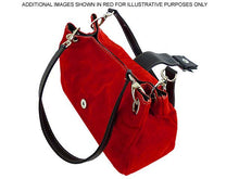 SMALL MAROON GENUINE SUEDE MULTI POCKET HANDBAG WITH BUCKLE