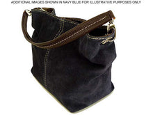SMALL TAUPE BEIGE GENUINE SUEDE MULTI POCKET LIGHTWEIGHT HANDBAG