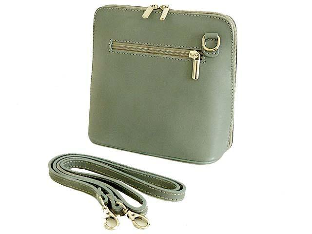 1c64e4ecf252 A-SHU SMALL GREY GENUINE LEATHER CROSSBODY BAG WITH LONG STRAP – A ...