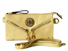 A-SHU SMALL MULTI-COMPARTMENT CROSS-BODY PURSE BAG WITH LONG SHOULDER STRAP - CREAM - A-SHU.CO.UK