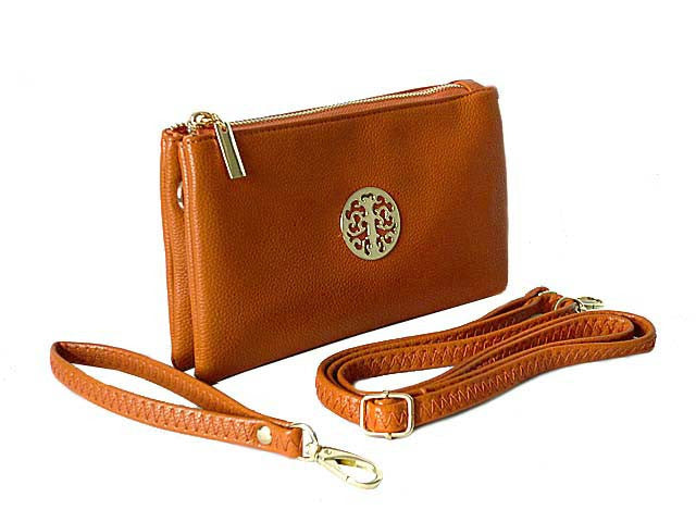 ee88f14ce8be7 A-SHU SMALL MULTI-COMPARTMENT CROSS-BODY PURSE BAG WITH STRAPS - TAN ...