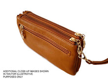 A-SHU SMALL MULTI-COMPARTMENT CROSS-BODY PURSE BAG WITH WRIST AND LONG STRAPS - BROWN - A-SHU.CO.UK