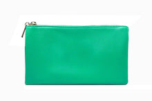 A-SHU SMALL MULTI-POCKET CROSSBODY PURSE BAG WITH WRISTLET AND LONG STRAP - TURQUOISE - A-SHU.CO.UK