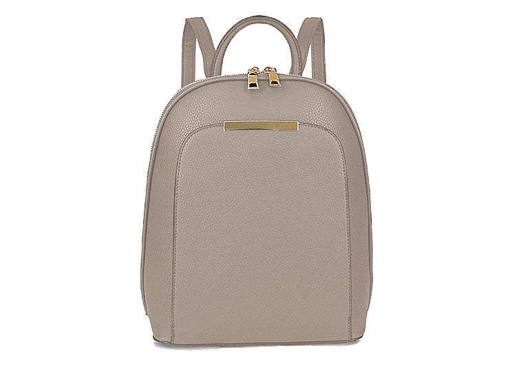 A-SHU SMALL MULTI COMPARTMENT CROSS BODY BACKPACK WITH TOP HANDLE - LIGHT GREY - A-SHU.CO.UK