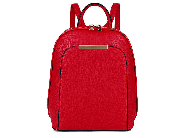 A-SHU SMALL MULTI COMPARTMENT CROSS BODY BACKPACK WITH TOP HANDLE - RED - A-SHU.CO.UK