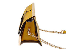 A-SHU ORDER BY REQUEST - SMALL MUSTARD YELLOW LEATHER EFFECT CROSS-BODY CHAIN SHOULDER BAG - A-SHU.CO.UK