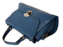 A-SHU SMALL NAVY BLUE HOLDALL HANDBAG / CROSS-BODY BAG WITH LONG SHOULDER STRAP - A-SHU.CO.UK
