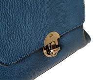 SMALL NAVY BLUE HOLDALL HANDBAG / CROSS-BODY BAG WITH LONG SHOULDER STRAP