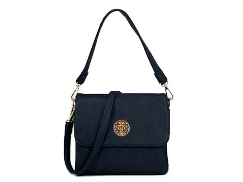 ORDER BY REQUEST - SMALL NAVY BLUE MULTI POCKET HANDBAG WITH LONG CROSS BODY STRAP