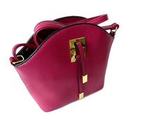 A-SHU SMALL PURPLE CROSS-BODY HANDBAG WITH LONG SHOULDER STRAP - A-SHU.CO.UK