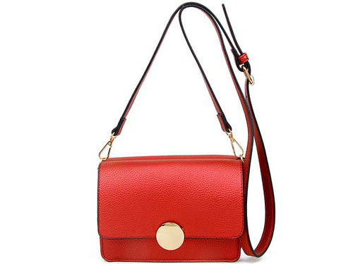 A-SHU SMALL RED LEATHER EFFECT DOUBLE SIDED CROSS-BODY SHOULDER BAG - A-SHU.CO.UK