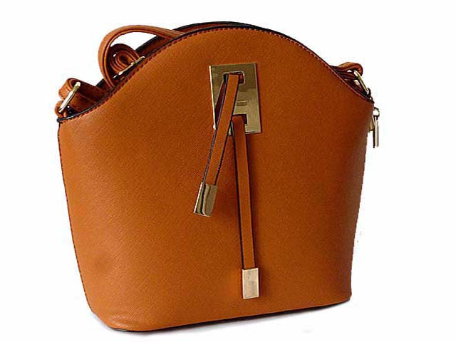 A-SHU ORDER BY REQUEST - SMALL TAN CROSS-BODY HANDBAG WITH LONG SHOULDER STRAP - A-SHU.CO.UK