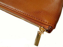 A-SHU SMALL MULTI-POCKET CROSSBODY PURSE BAG WITH WRIST AND LONG STRAPS - TAN - A-SHU.CO.UK