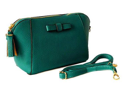 SMALL TURQUOISE CROSS-BODY SHOULDER BAG WITH LONG STRAP