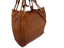 A-SHU ORDER BY REQUEST - TAN 2-WAY TOTE HANDBAG / HOLDALL HANDBAG WITH LONG SHOULDER STRAP - A-SHU.CO.UK
