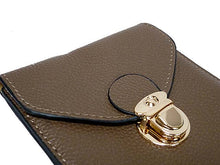 TAUPE LEATHER EFFECT SLIM LINE PHONE POUCH / CROSS BODY BAG WITH LONG STRAP