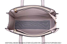 TAUPE GREY TOTE HANDBAG SET WITH SMALL HOLDALL CROSS BODY BAG AND CLUTCH BAG / PURSE WALLET