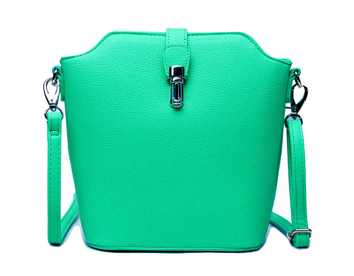 TURQUOISE CROSS BODY BAG WITH LONG OVER SHOULDER STRAP