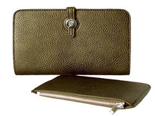 ORDER BY REQUEST - TWO-PIECE DESIGNER STYLE GREY TRAVEL WALLET / LARGE PURSE