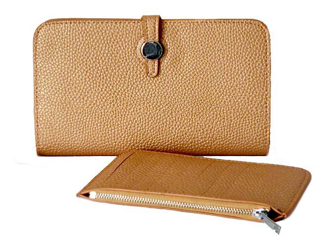 TWO-PIECE DESIGNER STYLE ROSE GOLD TRAVEL WALLET / LARGE PURSE