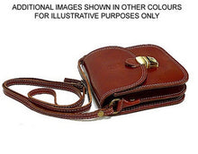 SMALL BURNT TAN GENUINE LEATHER SATCHEL SHOULDER BAG WITH LONG STRAP