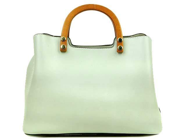 WHITE MULTI-COMPARTMENT HOLDALL HANDBAG WITH LONG STRAP