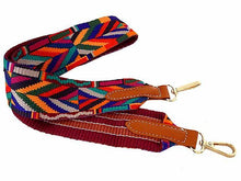 WIDE AZTEC RAINBOW MULTI-COLOUR HANDBAG STRAP