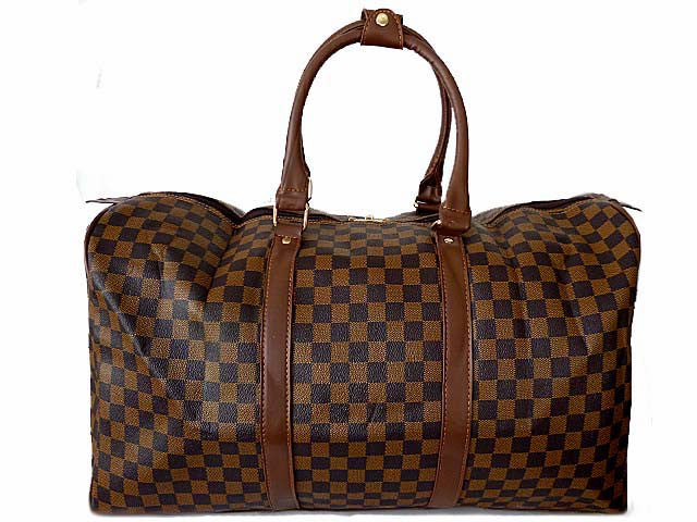 ORDER BY REQUEST - XXL LARGE BROWN DESIGNER STYLE TRAVEL HOLDALL HANDBAG