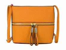 A-SHU MUSTARD YELLOW MULTI COMPARTMENT CROSSBODY BAG WITH LONG STRAP - A-SHU.CO.UK