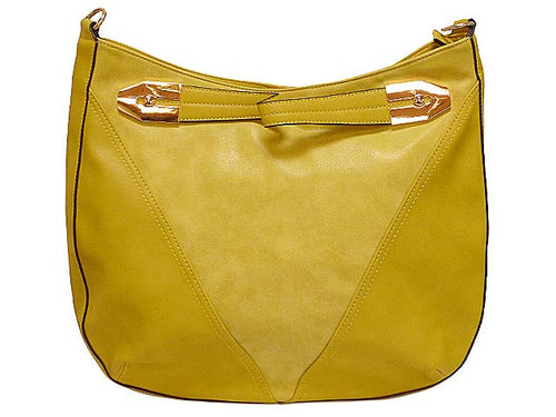 A-SHU ORDER BY REQUEST - YELLOW SUEDE AND LEATHER EFFECT TOTE HANDBAG WITH LONG STRAP - A-SHU.CO.UK