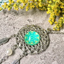 A-SHU LONG TRIBAL INSPIRED DREAM CATCHER PENDANT LOTUS NECKLACE - A-SHU.CO.UK