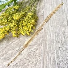 A-SHU GOLD SKELETON LEAF CHAIN LINKED ANKLET / ANKLE BRACELET - A-SHU.CO.UK
