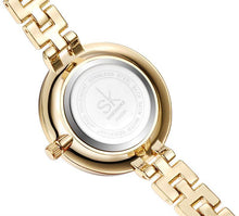 SILVER SLIM LINKED BAND WRIST WATCH