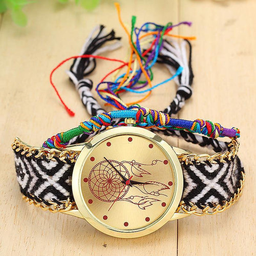 A-SHU HANDMADE NATIVE AMERICAN QUARTZ DREAMCATCHER FRIENDSHIP WATCH - STYLE 5 - A-SHU.CO.UK