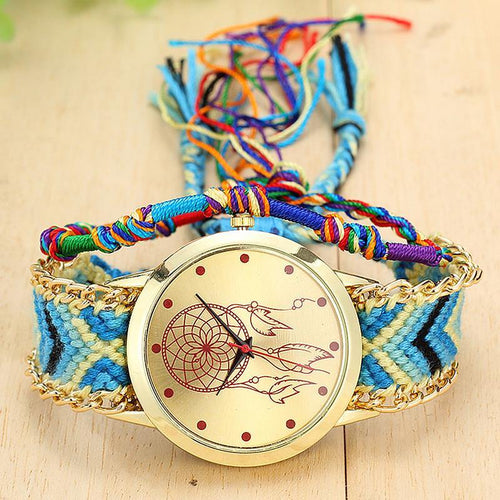 A-SHU HANDMADE NATIVE AMERICAN QUARTZ DREAMCATCHER FRIENDSHIP WATCH - STYLE 6 - A-SHU.CO.UK