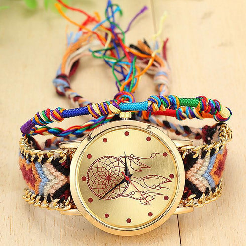 A-SHU HANDMADE NATIVE AMERICAN QUARTZ DREAMCATCHER FRIENDSHIP WATCH - STYLE 4 - A-SHU.CO.UK