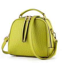 A-SHU LIME GREEN CHEVRON DESIGN MULTI-COMPARTMENT HOLDALL HANDBAG WITH LONG STRAP - A-SHU.CO.UK