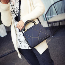 A-SHU SMALL GREY AZTEC CROSS-BODY HOLDALL HANDBAG WITH LONG STRAP - A-SHU.CO.UK