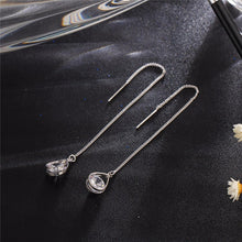 A-SHU SILVER CLEAR CRYSTAL WATER DROP EARRINGS - A-SHU.CO.UK