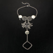 VINTAGE ANTIQUE SILVER INDIAN INSPIRED COIN ANKLET / YOGA FOOT BRACELET